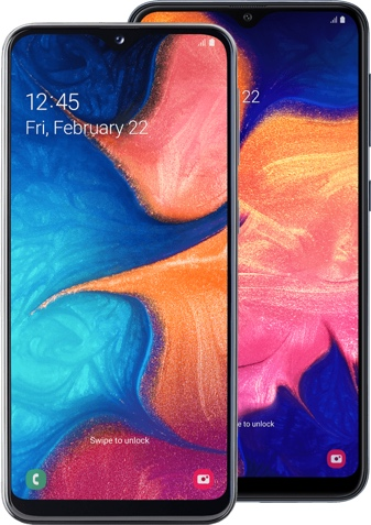 Samsung Galaxy A20e + Samsung Galaxy A10
