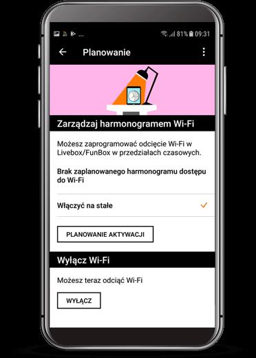 Harmonogram dostępu do Wi-Fi
