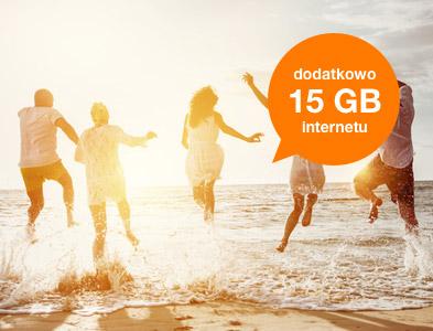 Dodatkowo 15 GB internetu