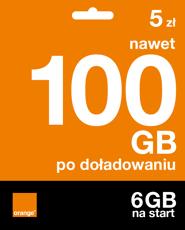 Starter: 5 zł | nawet 100 GB po doładowaniu | 6 GB na start