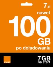 Starter: 7 zł | nawet 100 GB po doładowaniu | 7 GB na start