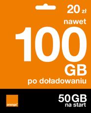 Starter: 20 zł | nawet 100 GB po doładowaniu | 50 GB na start