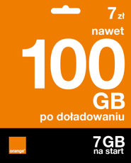 Starter: 7zł | nawet 100 GB po doładowaniu | 7 GB na start