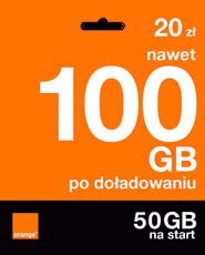 Starter: 20zł | nawet 100 GB po doładowaniu | 50 GB na start