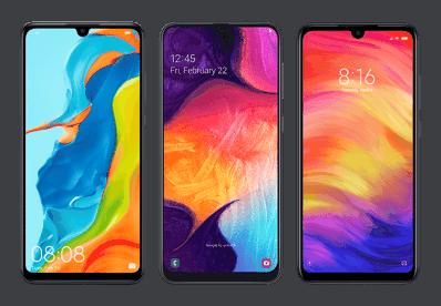 Smartfony Huawei P30 lite, Xiaomi Redmi Note 7, Samsung Galaxy A50