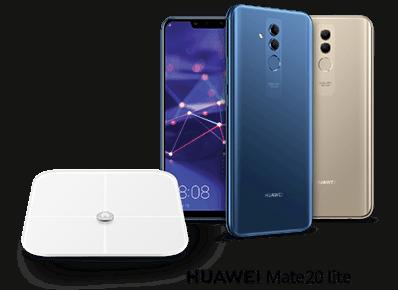 Huawei Mate 20 lite z wagą