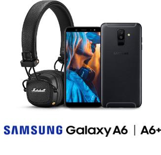 Samsung Galaxy A6 || Samsung Galaxy A6+ || Słuchawki Marshall Major 3