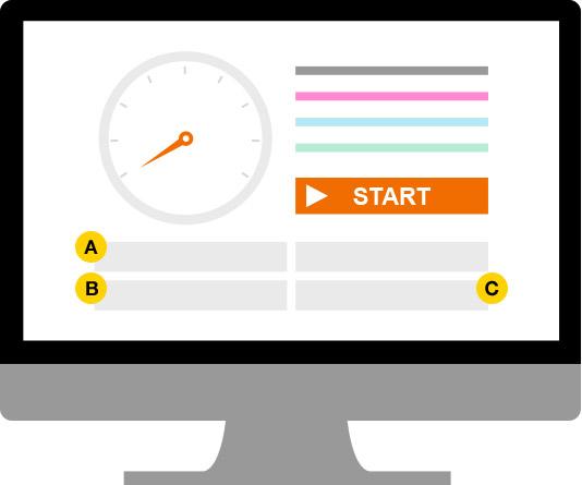 Ekran startowy speedtest