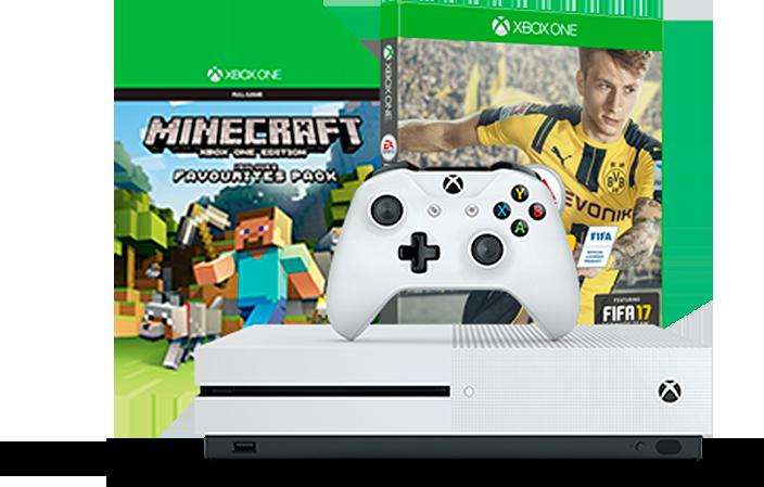 MS Xbox One 5 500 GB+ 2xLive Gold 3M +Fifa 17 +Minecraft