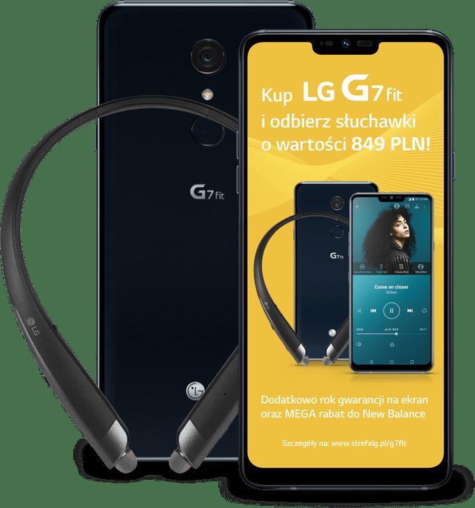 Kup LG G7 fit i odbierz słuchawki o wartości 849 PLN! Dodatkowo rok gwarancji na ekran oraz MEGA rabat do New Balance