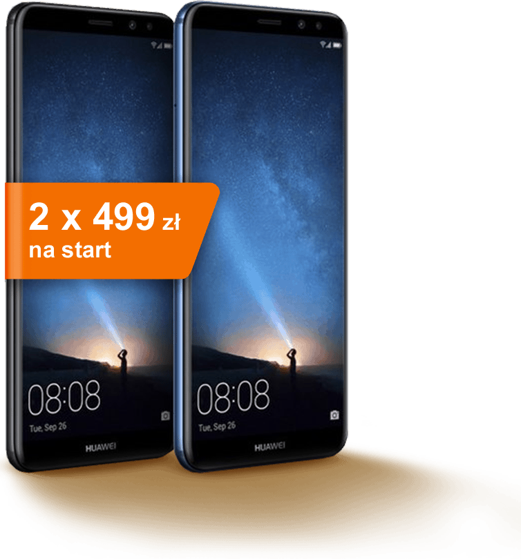 Huawei 2 x 499 zł na start