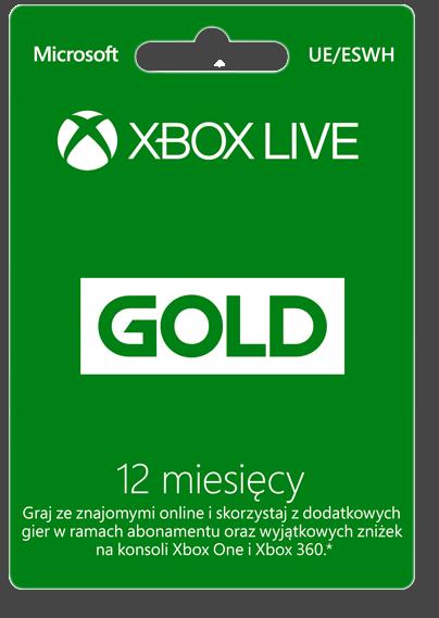 Xbox Live subskrypcja na 12 miesięcy